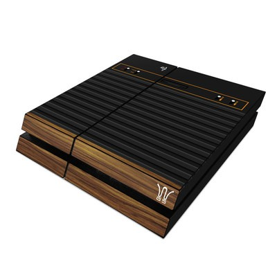 Sony PS4 Skin - Wooden Gaming System