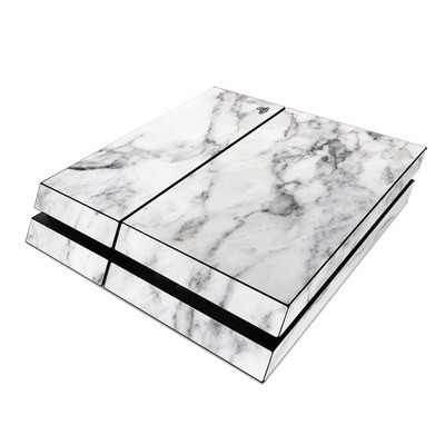 Sony PS4 Skin - White Marble