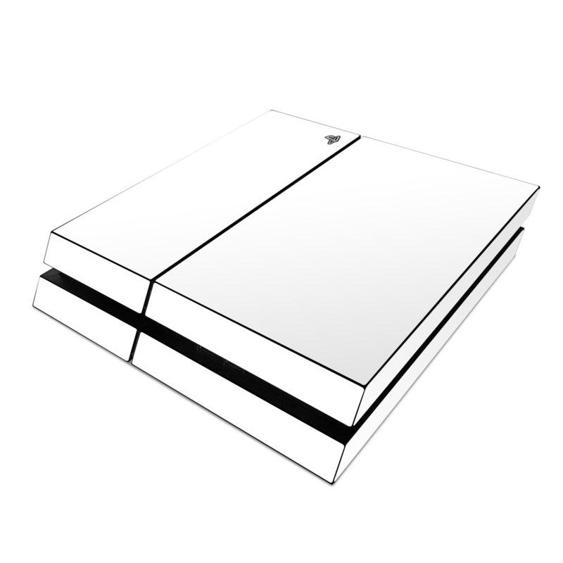 sony ps4 skin solid state white by solid colors decalgirl
