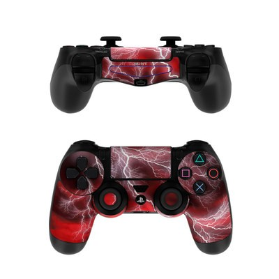 Sony PS4 Controller Skin - Apocalypse Red