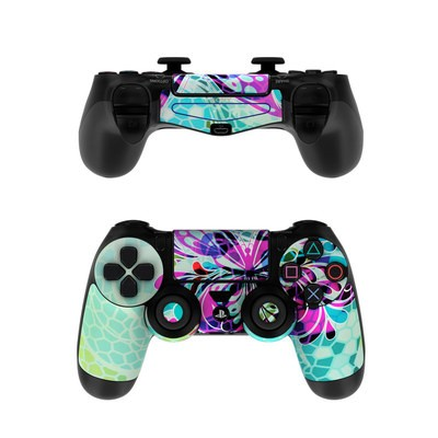 Sony PS4 Controller Skin - Butterfly Glass