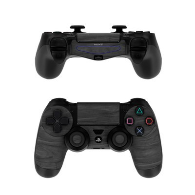 Sony PS4 Controller Skin - Black Woodgrain