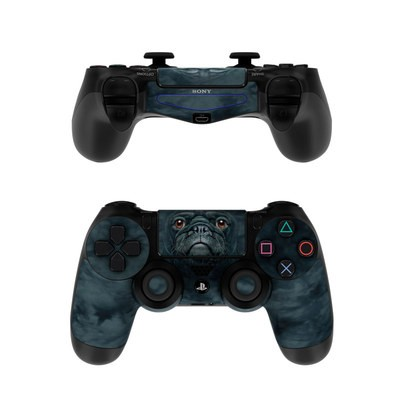 Sony PS4 Controller Skin - Black Pug