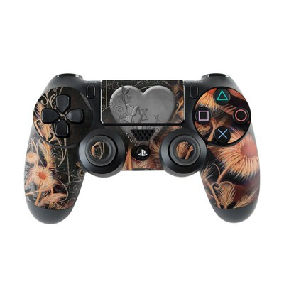 Sony PS4 Controller Skin - Black Lace Flower