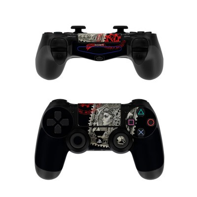 Sony PS4 Controller Skin - Black Penny