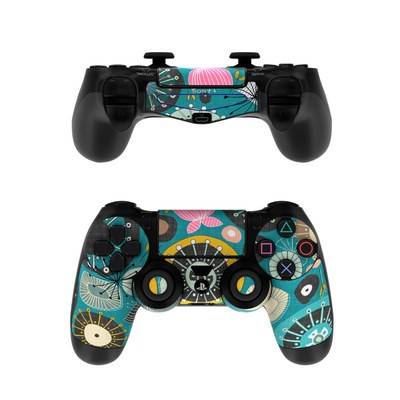 Sony PS4 Controller Skin - Blooms Teal