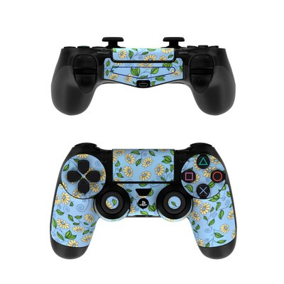 Sony PS4 Controller Skin - Blue Daisy