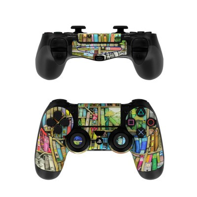 Sony PS4 Controller Skin - Bookshelf
