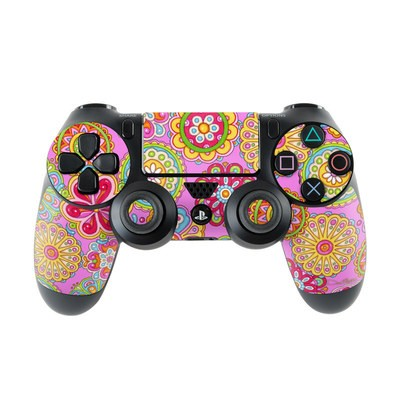 Sony PS4 Controller Skin - Bright Flowers