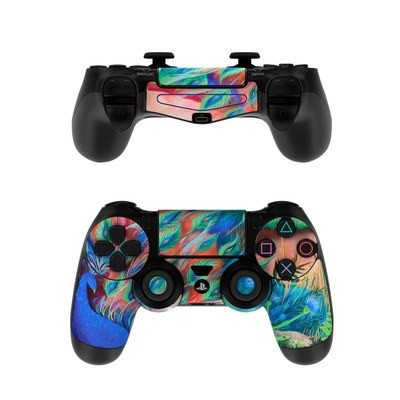 Sony PS4 Controller Skin - Coral Peacock