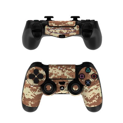 Sony PS4 Controller Skin - Digital Desert Camo