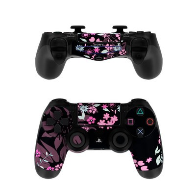 Sony PS4 Controller Skin - Dark Flowers