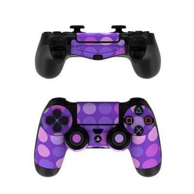 Sony PS4 Controller Skin - Big Dots Purple