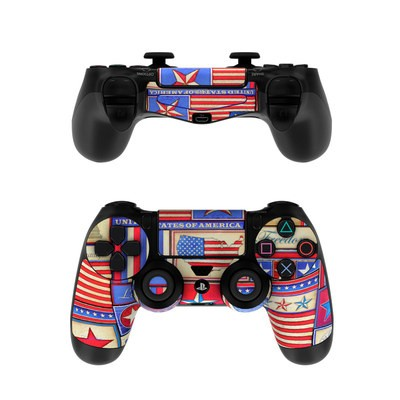 Sony PS4 Controller Skin - Flag Patchwork