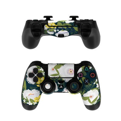 Sony PS4 Controller Skin - Fleurette Night