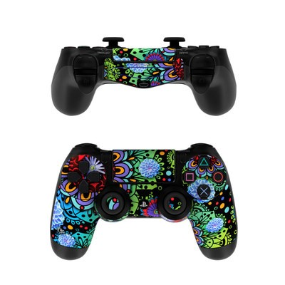Sony PS4 Controller Skin - Funky Floratopia