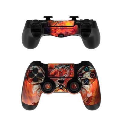 Sony PS4 Controller Skin - Furnace Dragon