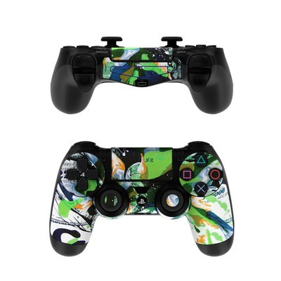 Sony PS4 Controller Skin - Green 1
