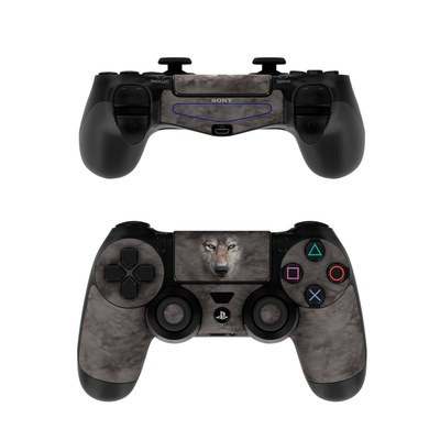 Sony PS4 Controller Skin - Grey Wolf