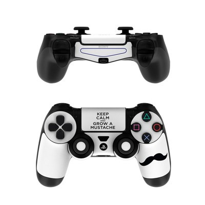 Sony PS4 Controller Skin - Keep Calm - Mustache