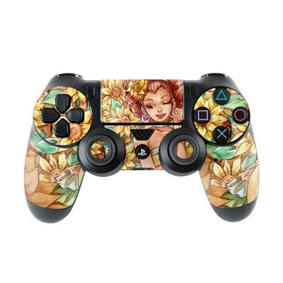 Sony PS4 Controller Skin - Lady Sunflower