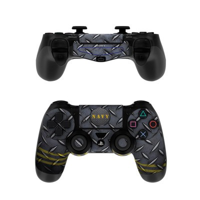 Sony PS4 Controller Skin - Navy Diamond Plate