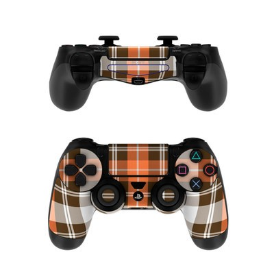 Sony PS4 Controller Skin - Copper Plaid