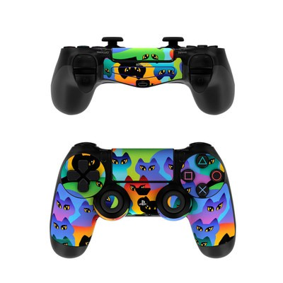 Sony PS4 Controller Skin - Rainbow Cats