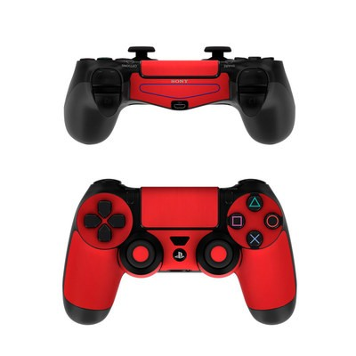 Sony PS4 Controller Skin - Red Burst