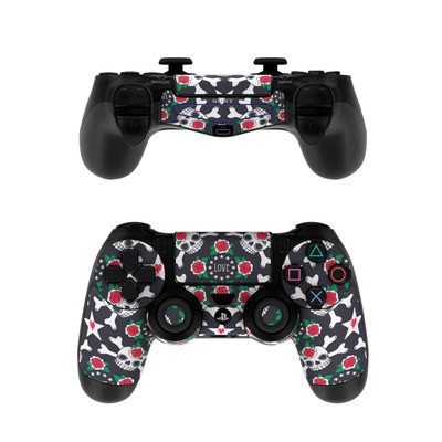 Sony PS4 Controller Skin - Rose Skull