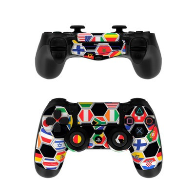 Sony PS4 Controller Skin - Soccer Flags