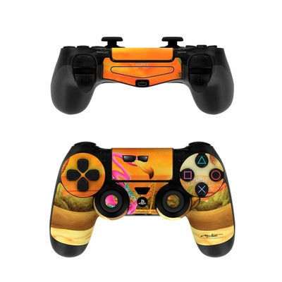 Sony PS4 Controller Skin - Sunset Flamingo