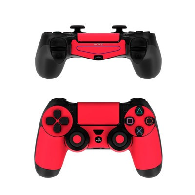 Sony PS4 Controller Skin - Solid State Red