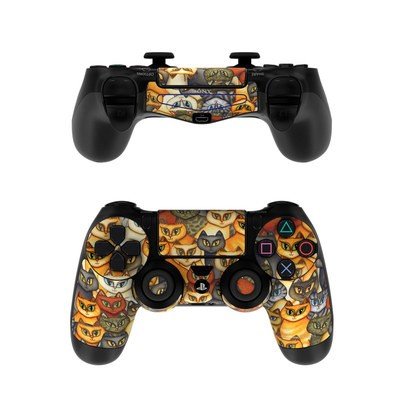 Sony PS4 Controller Skin - Stacked Cats