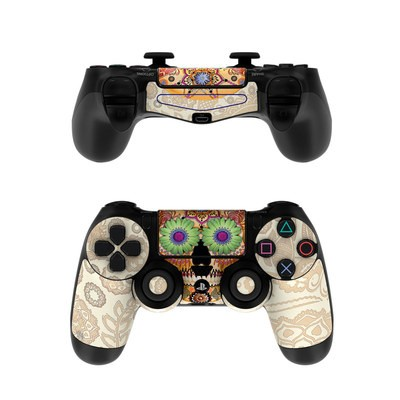 Sony PS4 Controller Skin - Sugar Skull Bone