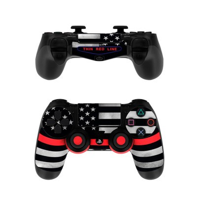 Sony PS4 Controller Skin - Thin Red Line