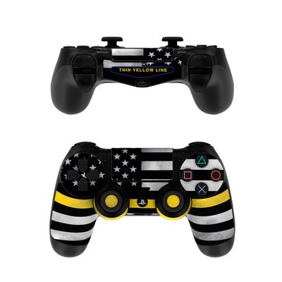 Sony PS4 Controller Skin - Thin Yellow Line