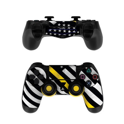 Sony PS4 Controller Skin - Thin Yellow Line Hero