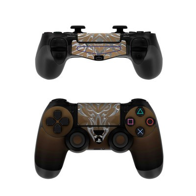 Sony PS4 Controller Skin - Tribal Dragon Chrome