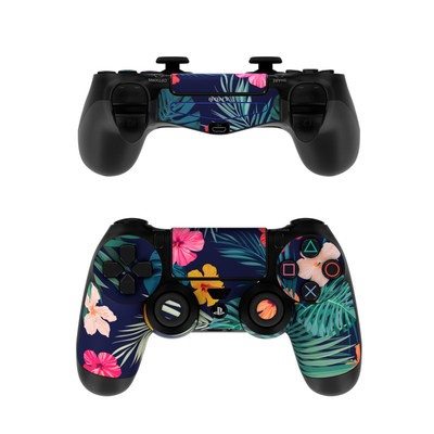 Sony PS4 Controller Skin - Tropical Hibiscus