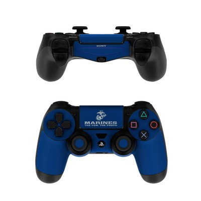 Sony PS4 Controller Skin - USMC Blue