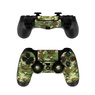 Sony PS4 Controller Skin - Woodland Camo