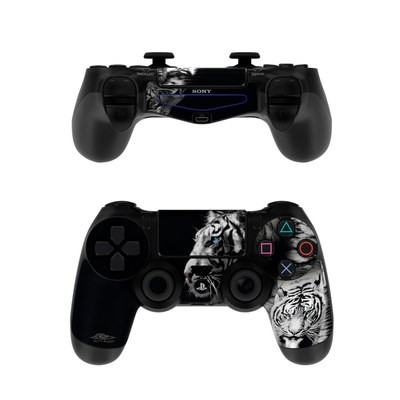 Sony PS4 Controller Skin - White Tiger
