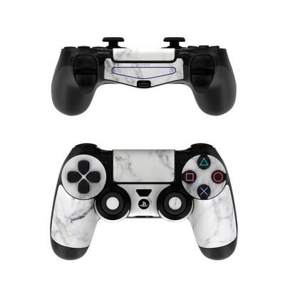 Sony PS4 Controller Skin - White Marble