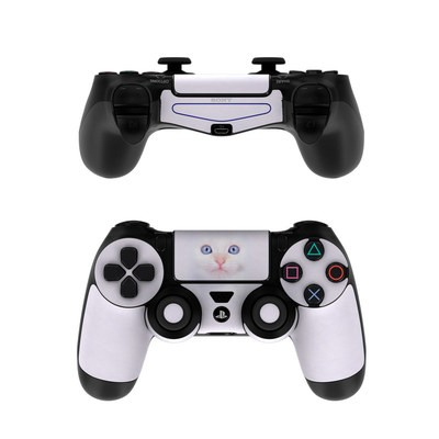 Sony PS4 Controller Skin - White Kitty