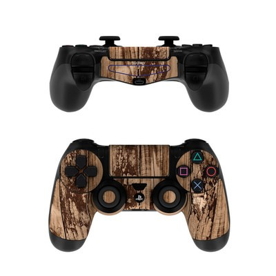 Sony PS4 Controller Skin - Weathered Wood