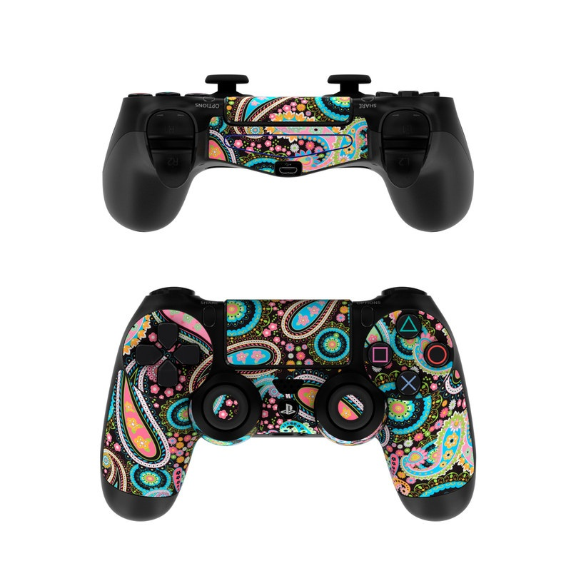sony ps4 controller skin crazy daisy paisley by debra valencia decalgirl. Black Bedroom Furniture Sets. Home Design Ideas