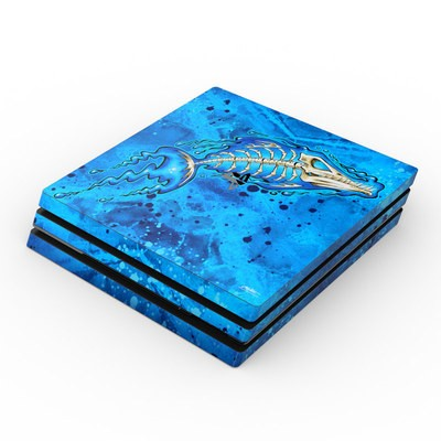 Sony PS4 Pro Skin - Barracuda Bones