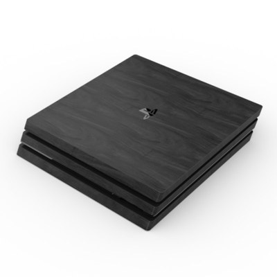 Sony PS4 Pro Skin - Black Woodgrain