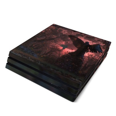 Sony PS4 Pro Skin - Black Angel